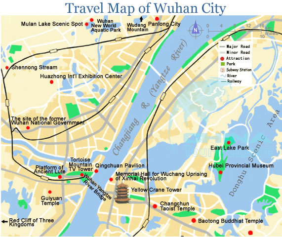 Map for wuhan travelsites