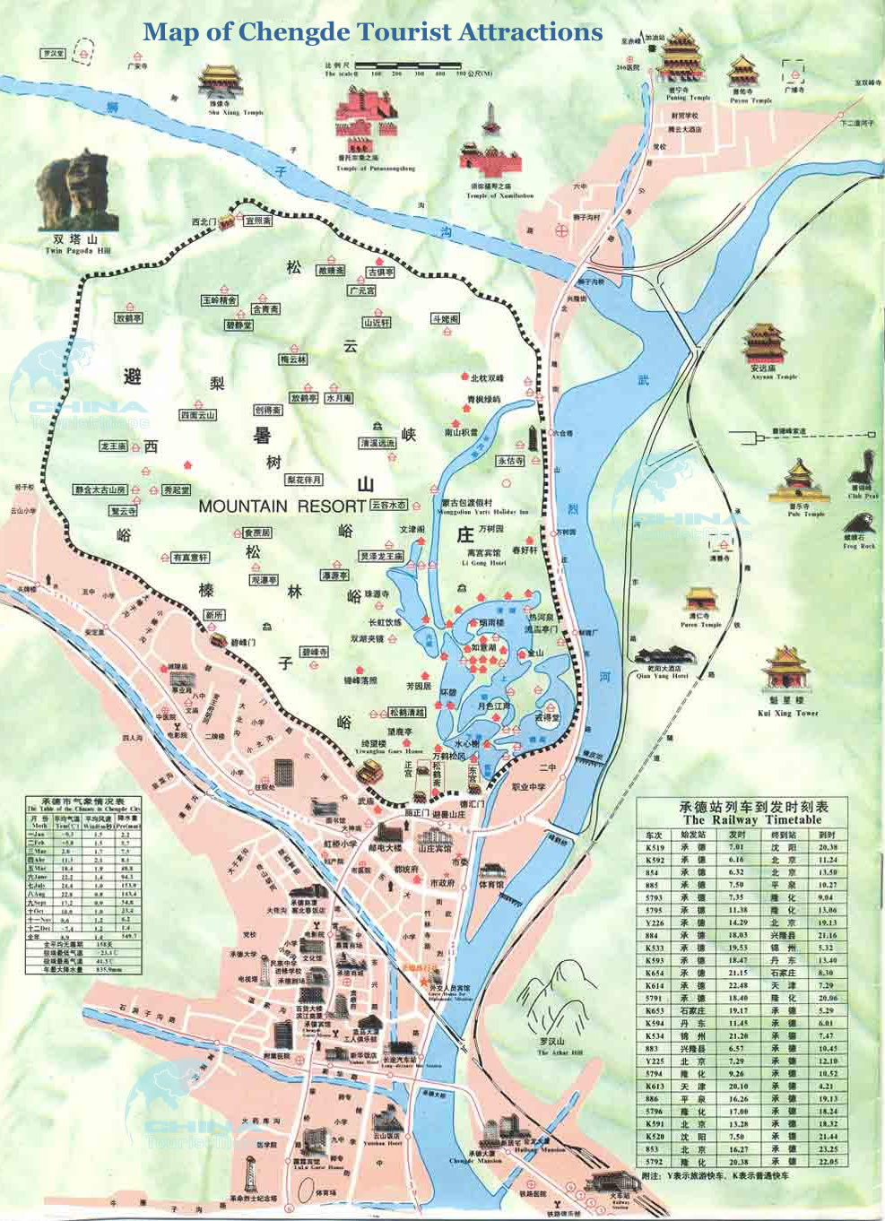 City Guide Chengde MunicipalityHebeiChina - Chengde map